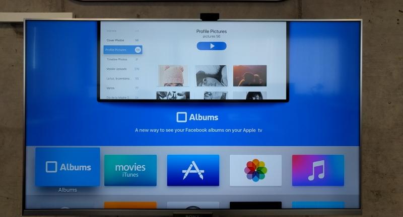 """Disfruta de tus fotografías de Facebook en tu Apple TV con """"Albums""""."""